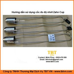 Hướng dẫn sử dụng cốc đo độ nhớt Zahn Cup