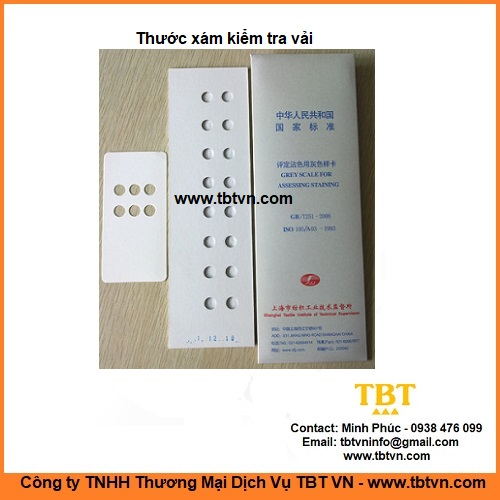 Thước xám kiểm tra vải GB/T251 ISO105 A03