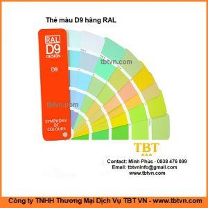 Thẻ màu D9 hãng RAL
