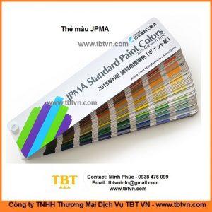 Thẻ màu JPMA