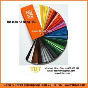 Thẻ màu K5 hãng RAL