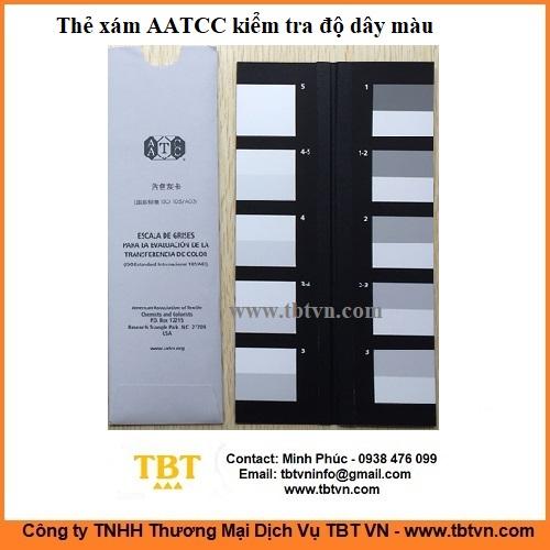 Thẻ xám AATCC kiểm tra độ dây màu