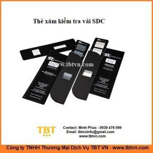 Thẻ xám kiểm tra vải SDC