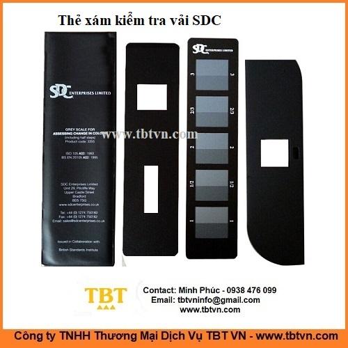 Thẻ xám kiểm tra vải SDC ISO105
